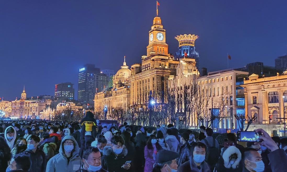 Người Trung Quốc đi nghỉ trong dịp Tết Nguyên đán 2021. Ảnh: VCG