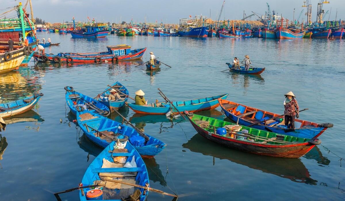 Ở Quy Nhơn, dân chài lưới và các chợ cá vẫn tấp nập ra vào bờ biển, có lẽ là một trong những nơi hiếm hoi du khách được tận hưởng một chuyến du lịch biển yên bình, để nạp năng lượng cho bản thân. Nhịp sống chậm rãi, thong thả ở phố biển Quy Nhơn cũng khiến chúng ta nhận ra những hạnh phúc nhỏ nhoi quan trọng chừng nào, tác giả bình luận. Ảnh: Alamy.