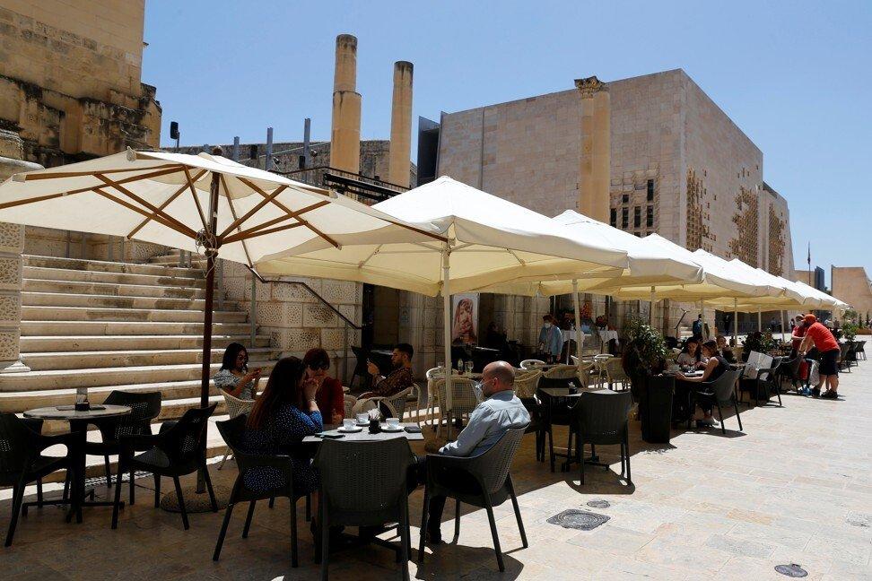Một nhà hàng ở Valletta, Malta. Ảnh: Reuters