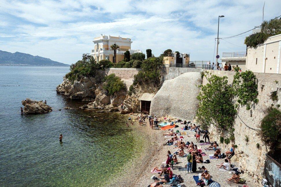 Bãi biển Maldorme ở Marseilles, Pháp. Ảnh: Bloomberg