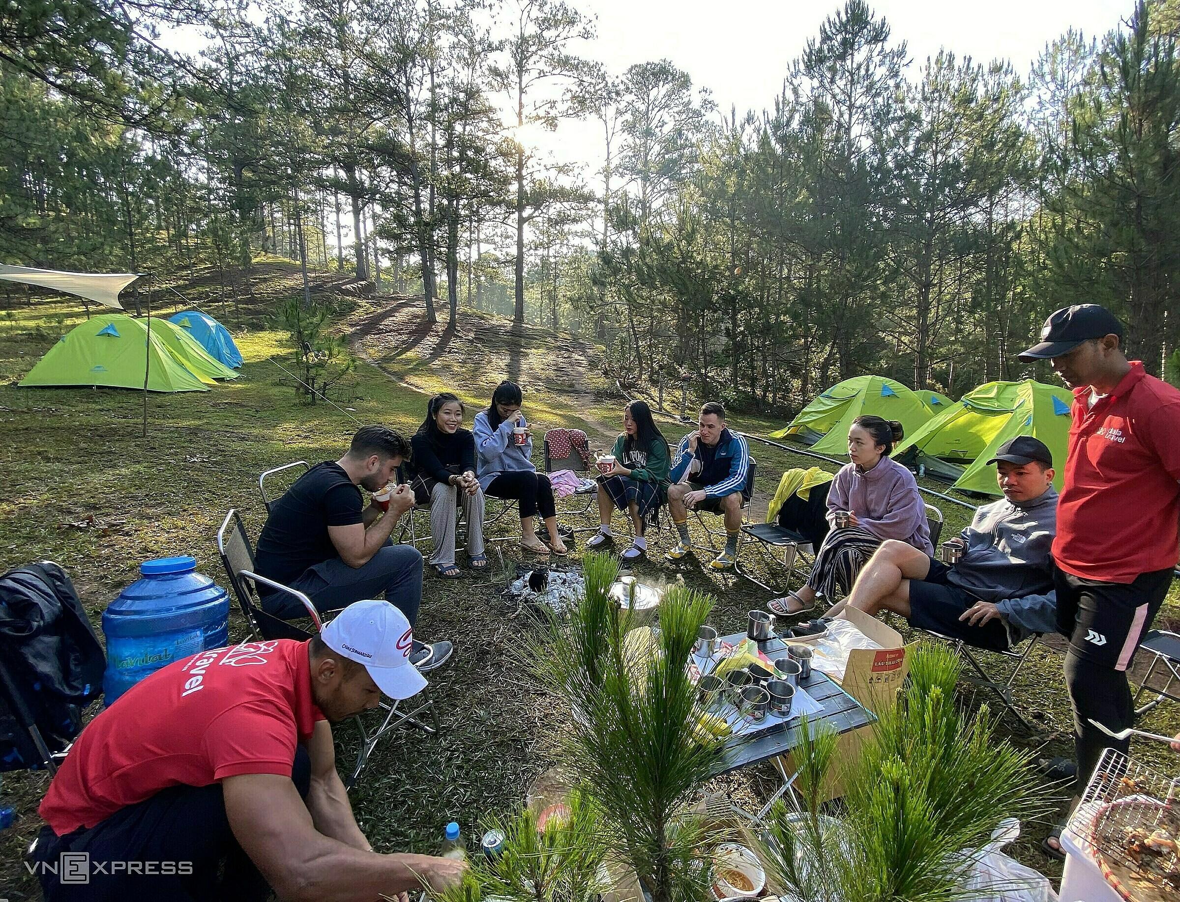 Bidoup Núi Bà là một trong những vị trí cắm trại được yêu thích. Ảnh: Thanh Hằng