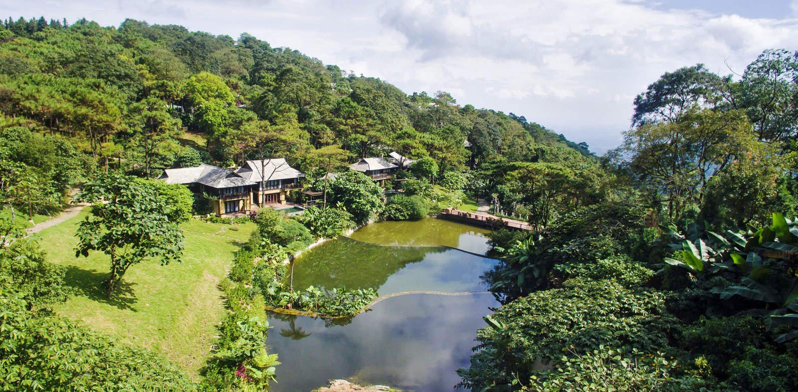 Meliá Ba Vì Moutain Retreat nằm trong khuôn viên Vườn quốc gia Ba Vì được nhiều du khách lựa chọn cho kỳ nghỉ cuối tuần. Ảnh: Meliá.