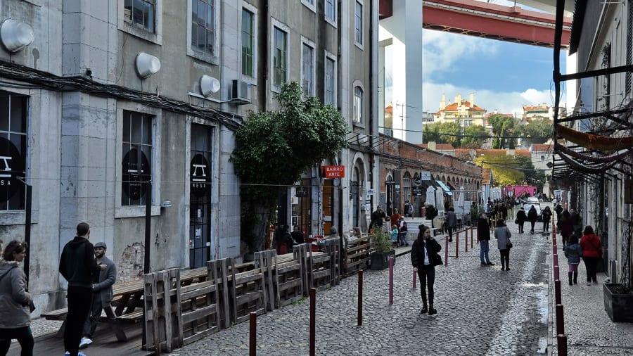 Rua Rodrigues de Faria của thủ đô Lisbon, Bồ Đào Nha. Ảnh: Shutterstock