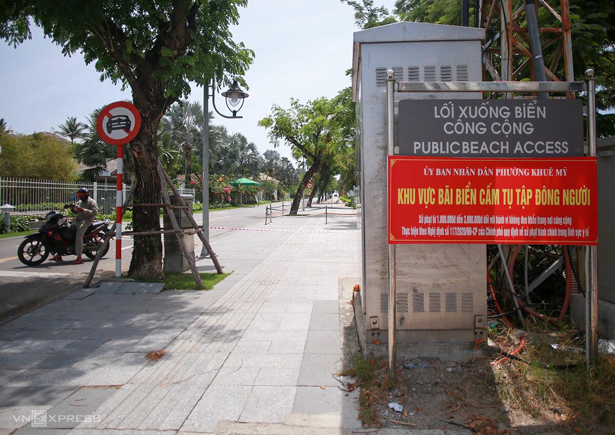 Đà Nẵng cho phép mở lại hoạt động ăn, uống tại chỗ, tắm biển từ 9/6. Ảnh: Nguyễn Đông.