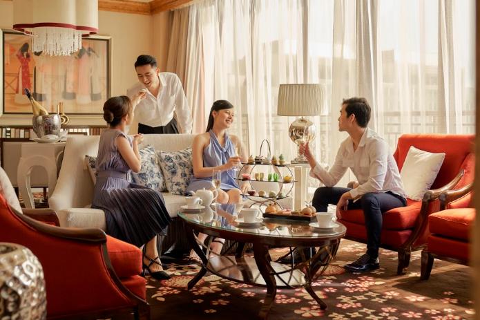 Phòng Premium Suite Ocean View tại InterContinental Grand Ho Tram có phong cách hiện đại.