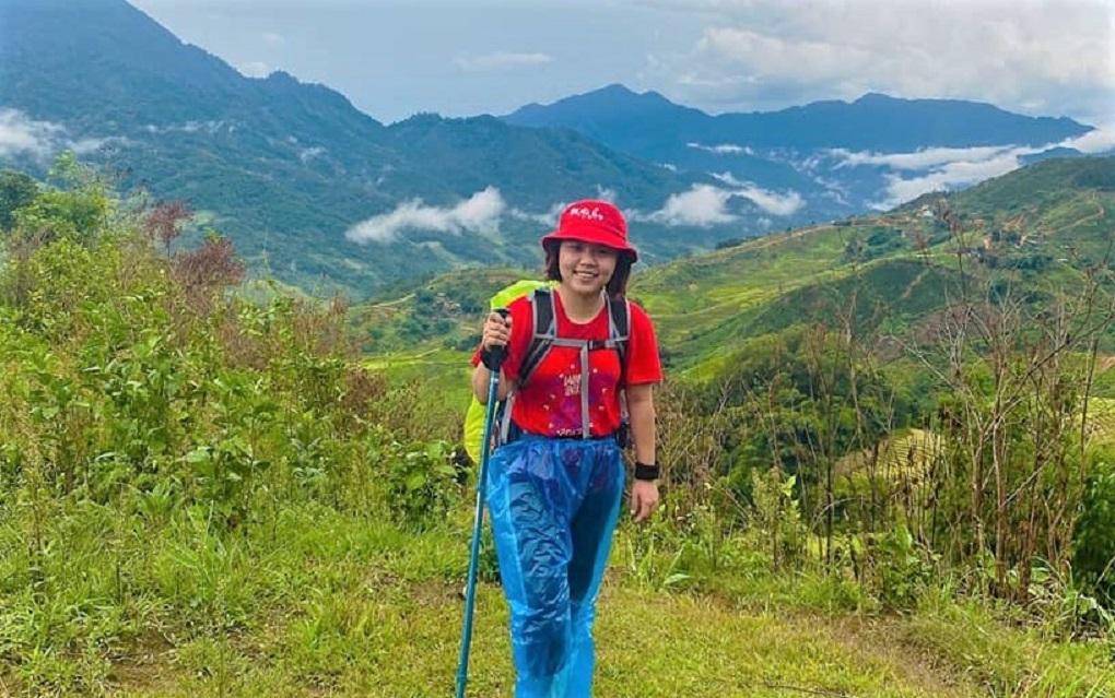 Hương cho biết cô thường theo dõi các hội nhóm leo núi, nếu có chuyến đi nào phù hợp cô sẽ đăng ký tham gia. Ảnh: NVCC.