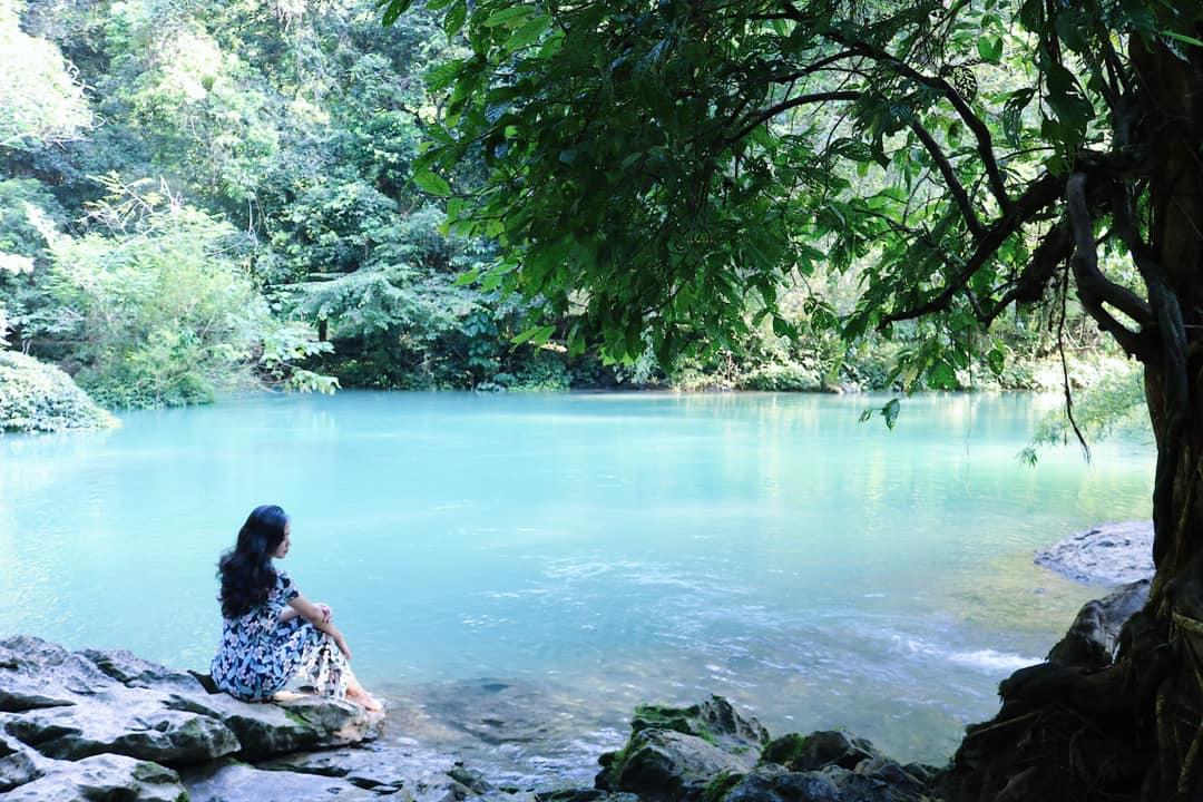 Dạo quanh suối Lê Nin, du khách sẽ được tận hưởng không khí mát lạnh, trong lành. Ảnh: Lan Hương.