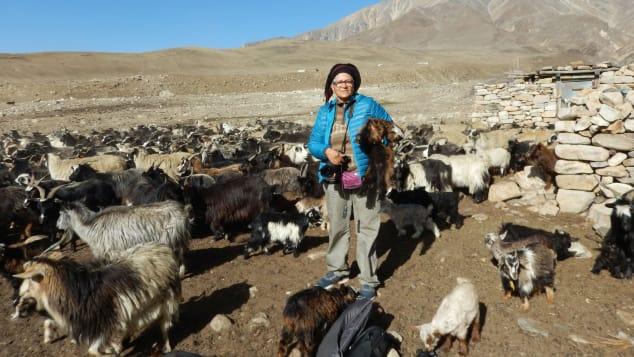 Người phụ nữ Ấn Độ du lịch Tây Tạng năm 2017.  Ảnh: Sudha Mahalingam