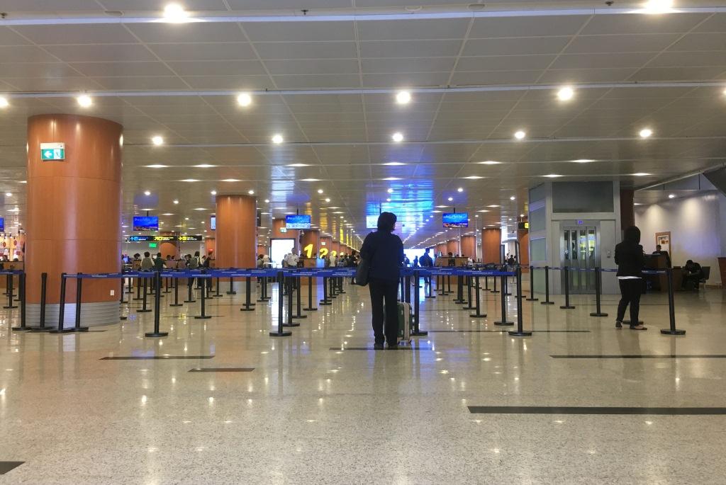 Quang cảnh ở sân bay Yangon.