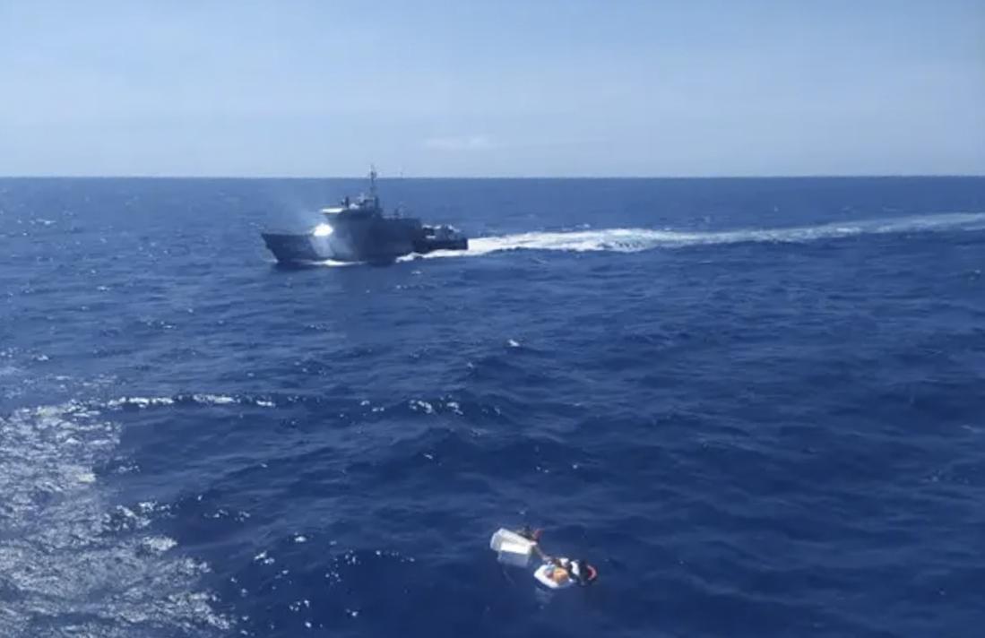 Chiếc thuyền cứu hộ được phát hiện bởi một con tàu đi ngang qua vào 6/9. Ảnh: Twitter/INEA