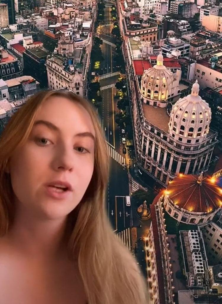 Chiara Igoef thường làm các video về mẹo đi du lịch hoặc chỉ ra các cú sốc văn hóa mà du khách có thể gặp khi ra nước ngoài. Ảnh: Tiktok