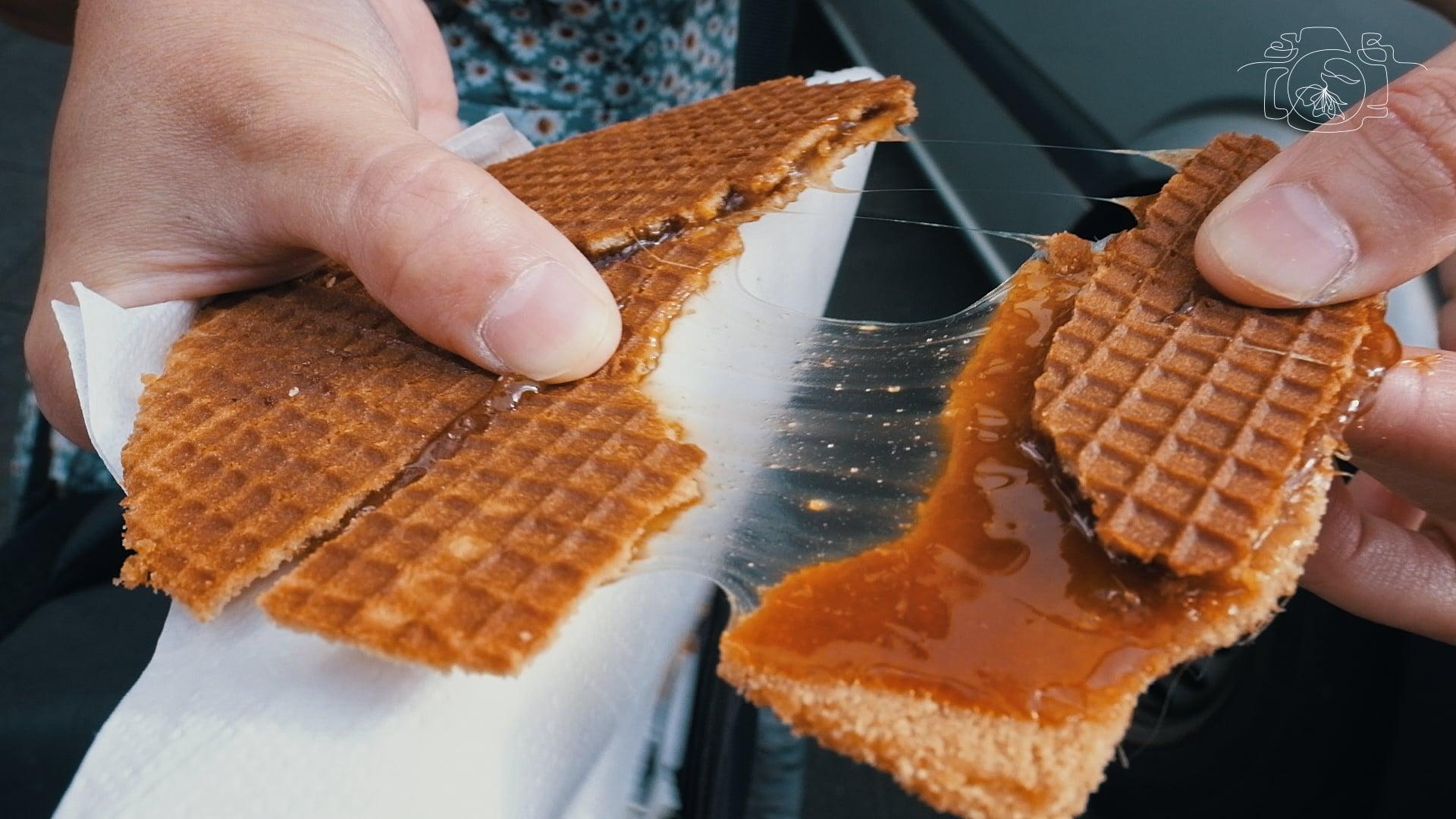 Bánh Stroopwafel thơm ngọt, nồng nàn. Ảnh: NVCC