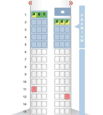 Sơ đồ máy bay không có hàng ghế số 13. Ảnh: SeatGuru