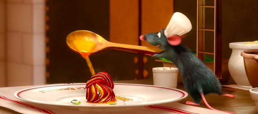 Món ratatouille xuất hiện trong bộ phim cùng tên. Ảnh: Pixar/Disney